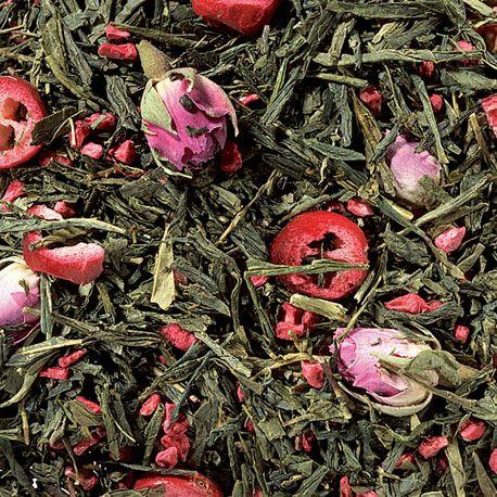 Te verde arandanos rosas