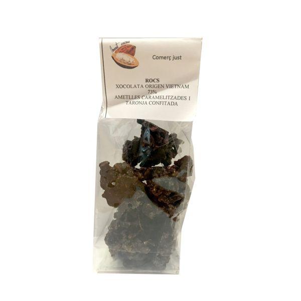 rocas de chocolate negro