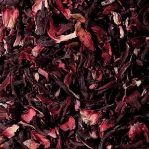 flores de hibiscos cortadas