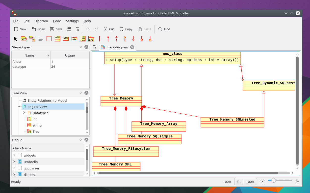hight resolution of umbrello is a unified modelling language uml modelling tool and code generator it can create diagrams of software and other systems in the