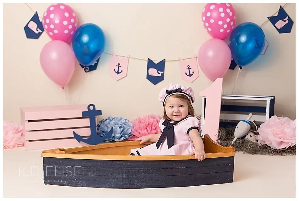 Nautical Themed First Birthday Cake Smash Pueblo Colorado