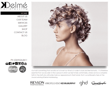 KDelme Hairdressing Website