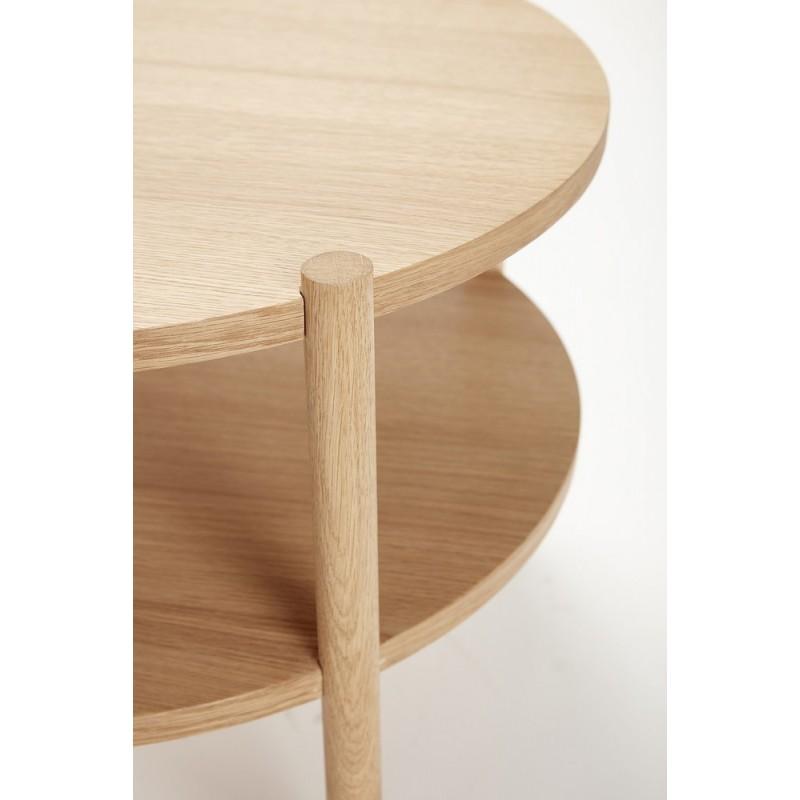 table basse ronde bois naturel 2 plateaux hubsch kdesign