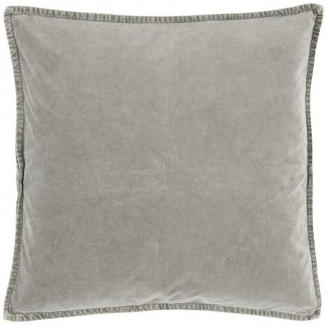 ib laursen housse de coussin carre velours gris clair 50 x 50 cm kdesign