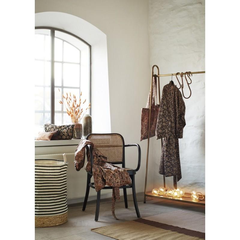madam stoltz tapis motif geometrique couleurs chaudes coton 120 x 180 kdesign