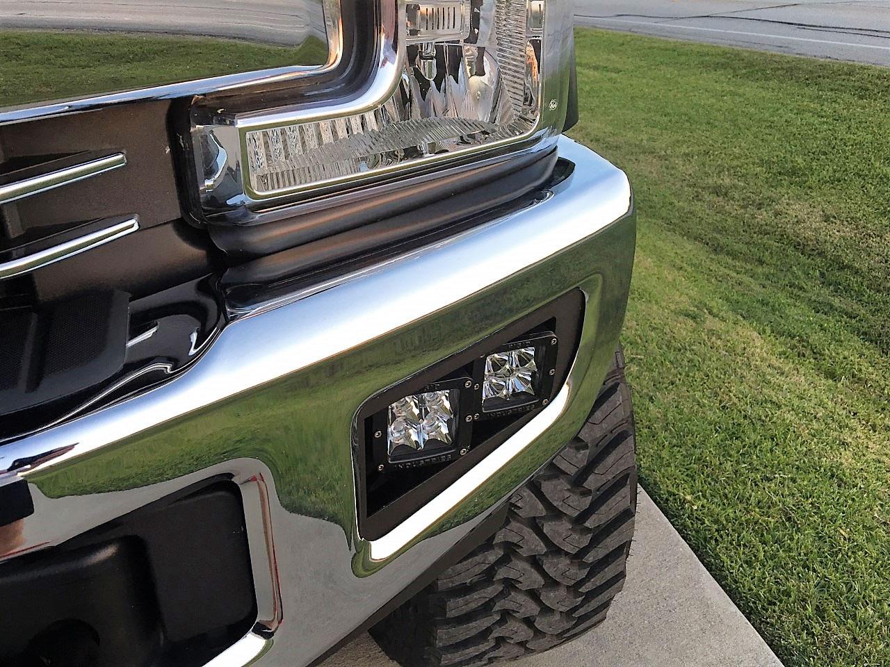hight resolution of 2017 ford super duty dual fog light brackets home lights light mounts wiring rigid industries bumper lightbar