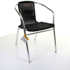 Aluminum Bistro Chairs Office Chair Neck Support Aluminium Chrome Table Square Round Stacking