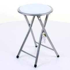 Round Fold Up Chair Leather And Stool Folding Breakfast Seating Parties Office