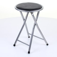 Round Fold Up Chair Student Desk Folding Stool Breakfast Seating Parties Office