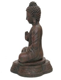 MEDITATING BUDDHA STATUE ORNAMENT INDOOR OUTDOOR GARDEN ...