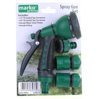 Hose Pipe Fittings Nozzle Connector Water Spray Gun Set ...
