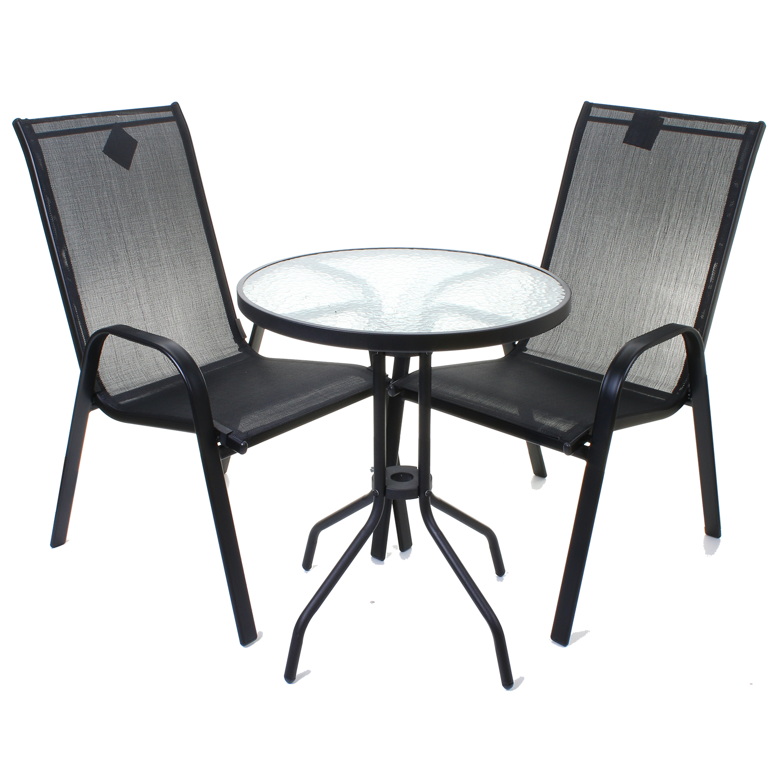 patio bistro table and chairs black chair covers with blue sash garden furniture set outdoor round rectangular