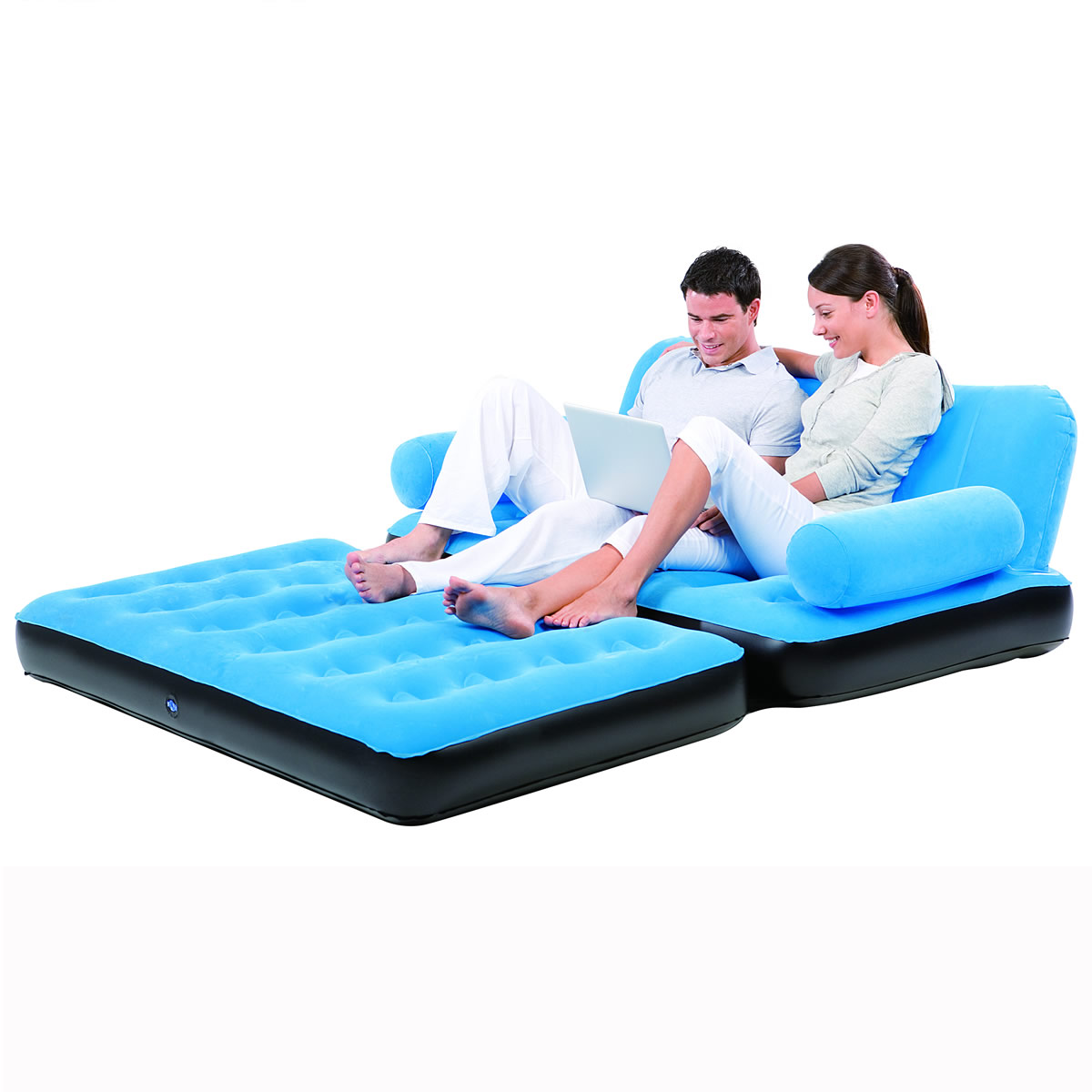 inflatable camping sofa bed small living room ideas with black sofas double air blow up couch furniture