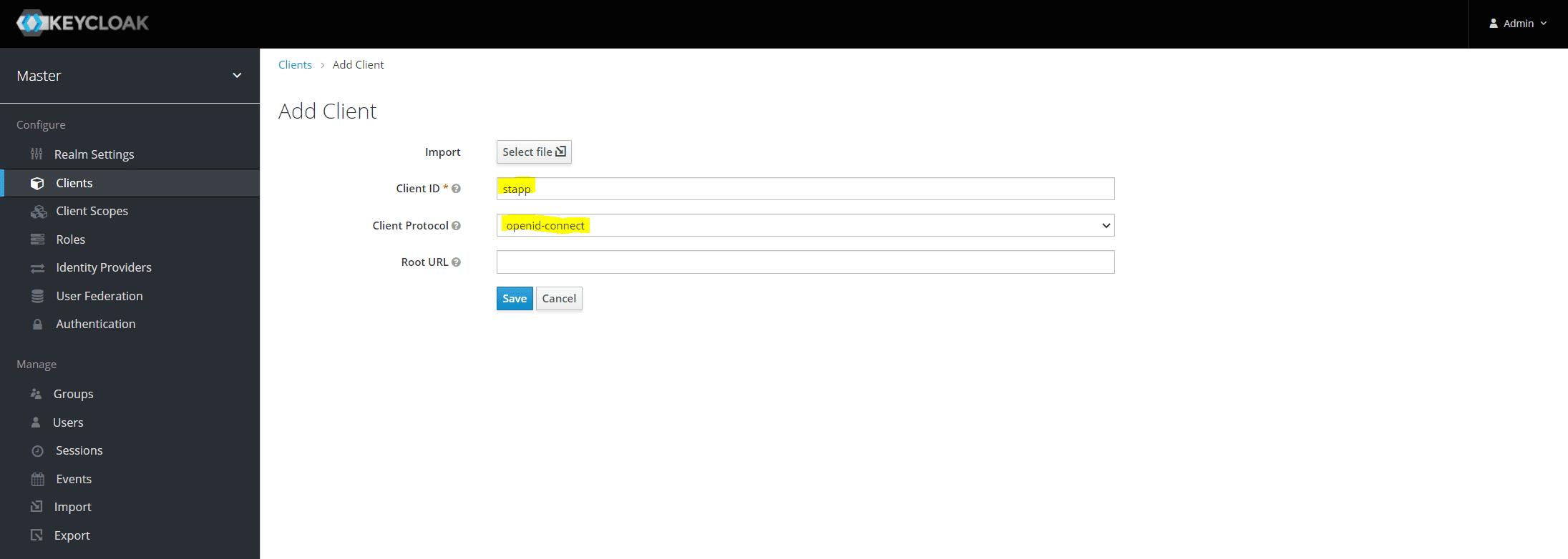 Keycloak Create Client 2
