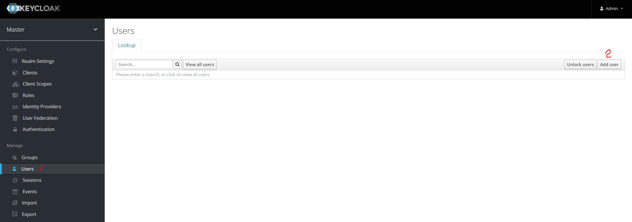 Keycloak Create User 1