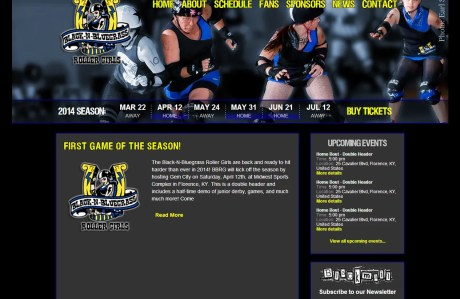 Black-n-Bluegrass Roller Girls home page