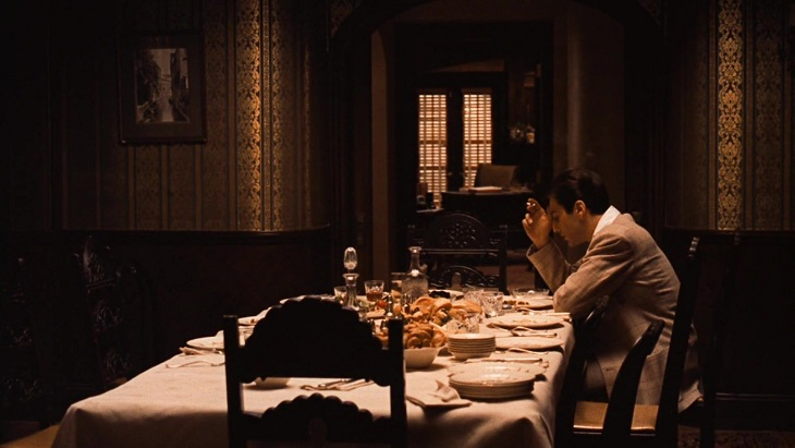 the godfather ii eating lonely