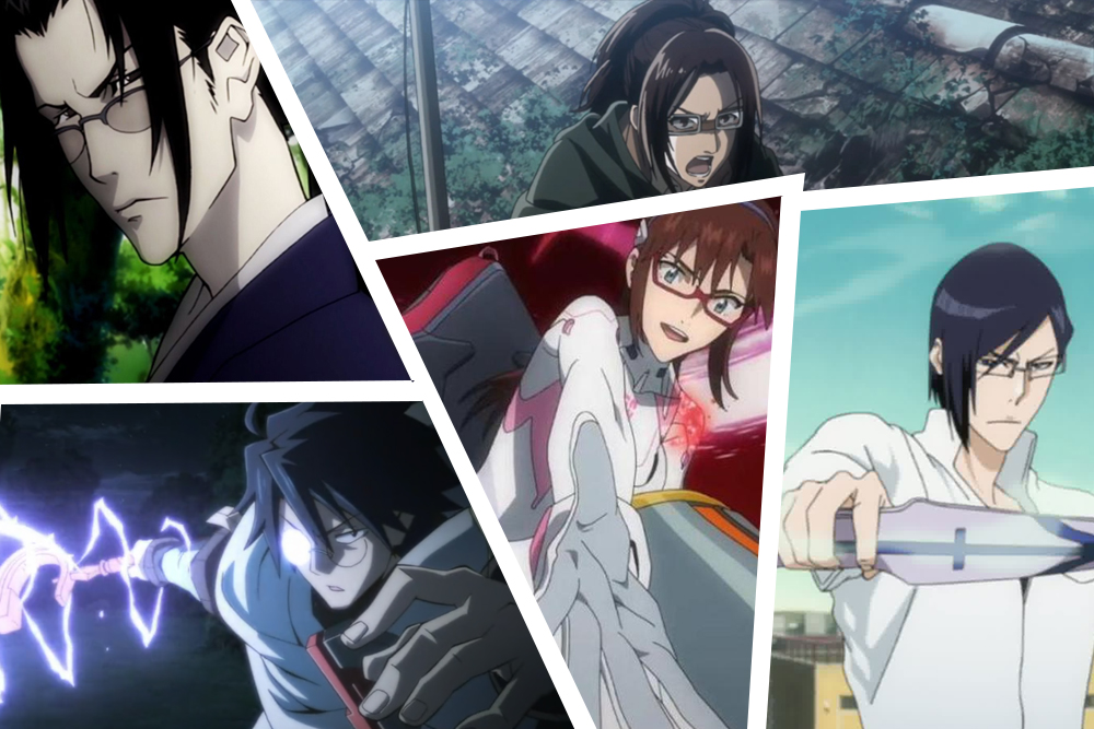 anime character wear glasses