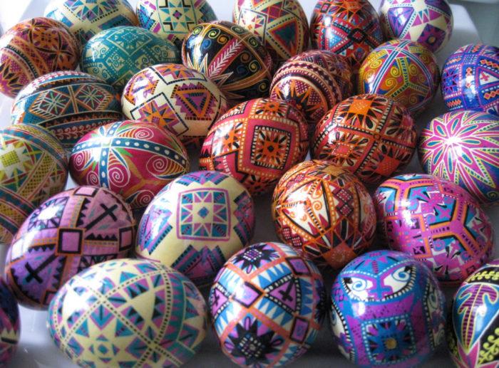 Le uova di Pasqua dipinte a mano di Ukrainian Easter Eggs