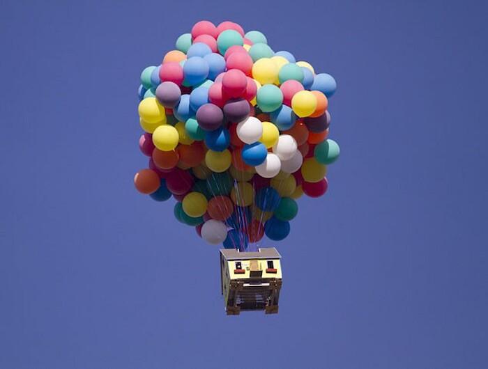 La vera casa di Up della Pixar che vola con palloncini creata dalla National Geographic  KEBLOG