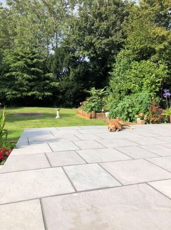 kebur contempo andhra grey limestone paving