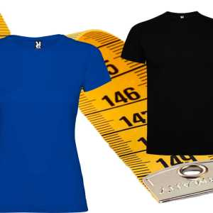 Medidas de las tallas de las camisetas