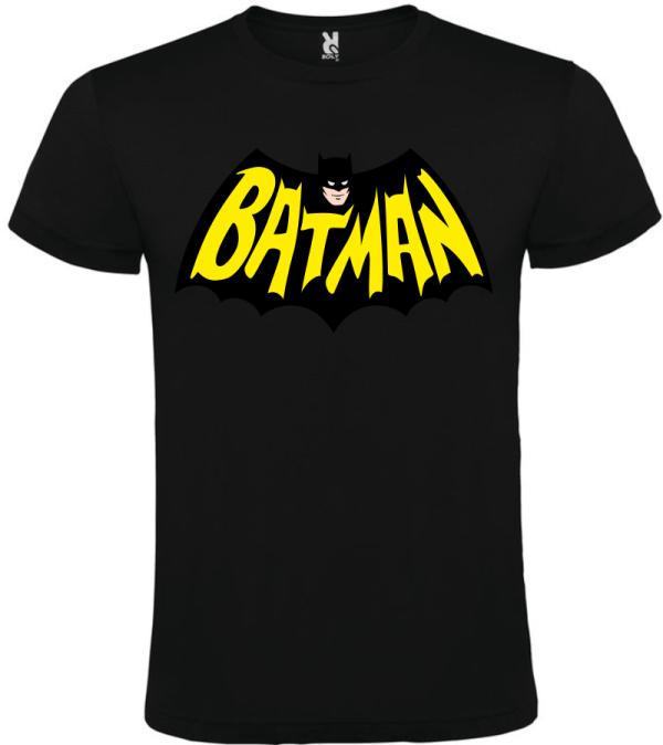 Camiseta para hombre Bat man negro