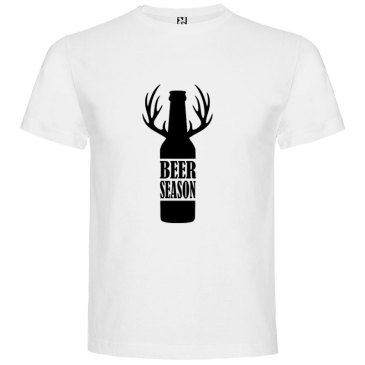 Camiseta para hombre Beer Season color blanco