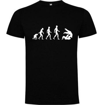 Camiseta hombre evolución taekwondo Negro logo Blanco