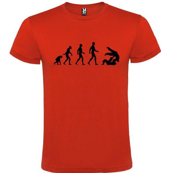 Camiseta hombre evolución taekwondo Rojo logo Negro