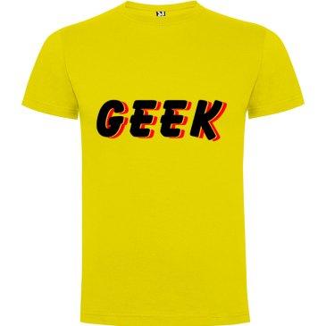 Camiseta hombre Geek Sombra en coloramarilla