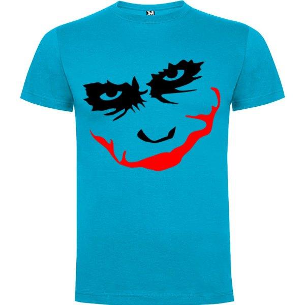 Camiseta manga corta para hombre Joker Smile en Color Turquesa