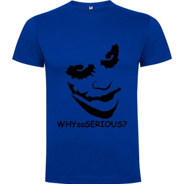 Camiseta manga corta Why so serious?para hombre Joker en Color Azul Royal