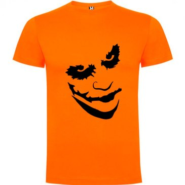 Camiseta manga corta Why so serious?para hombre Joker en Color Naranja
