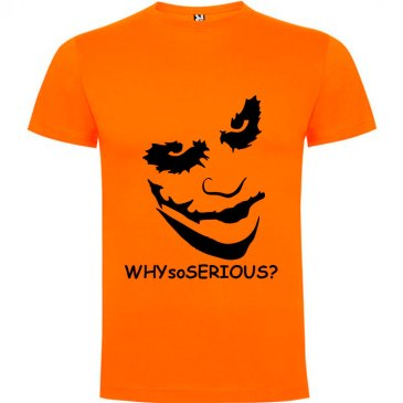 Camiseta manga corta Why so serious?para hombre Joker en Color Naranja