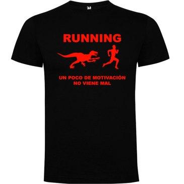 Camisetas divertidas un poco de motivación viene Bién en color negro y logo en rojo