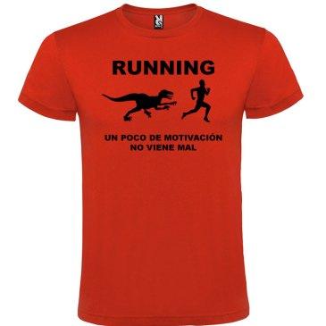 Camisetas divertidas un poco de motivación viene Bién en color rojo y logo en negro