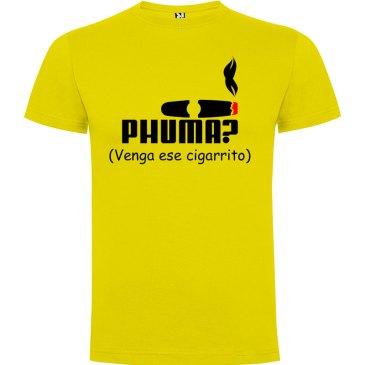 Camiseta para hombre PHUMA en color amarilla