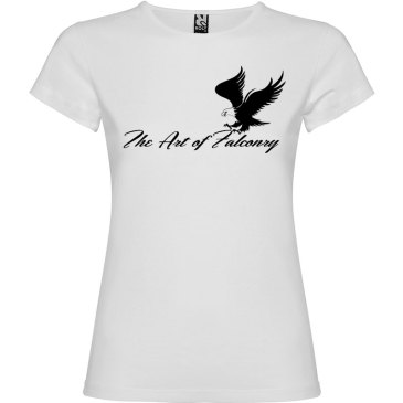 Camiseta para mujer The Art of Falconry Águila en color Blanco