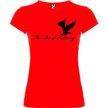 Camiseta para mujer The Art of Falconry Águila en color rojo