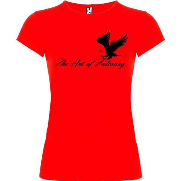 Camiseta para mujer The Art of Falconry Águila en color rojo
