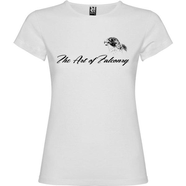 Camiseta para mujer The Art of Falconry Falcon en color Blanco