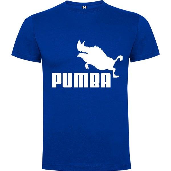 Camiseta hombre divertida PUMBA en azul Royal