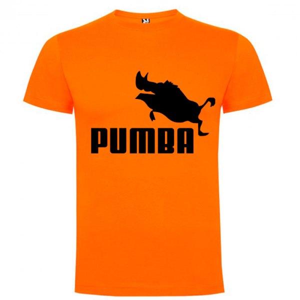 Camiseta hombre divertida PUMBA en naranja
