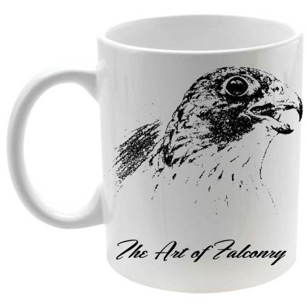 Taza The Art of Falconry Falcon en color blanco