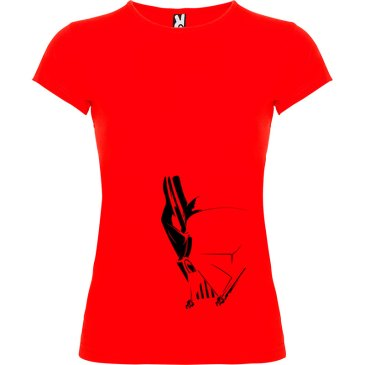 T-Shirt para mujer Dark Side en color rojo