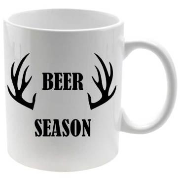 Taza porcelana Beer Season estampado negro