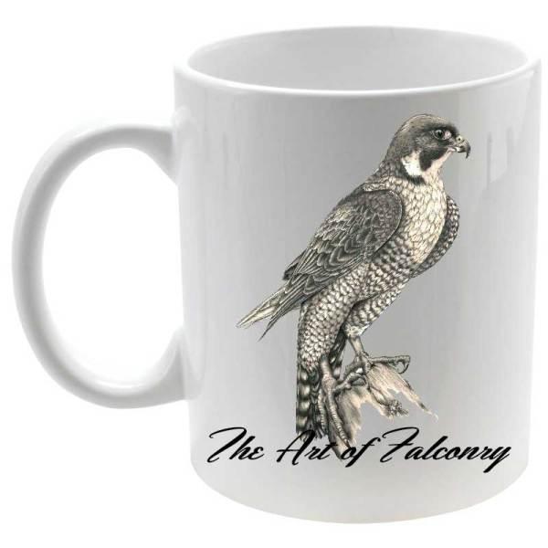 Taza The Art of Falconry en color blanco