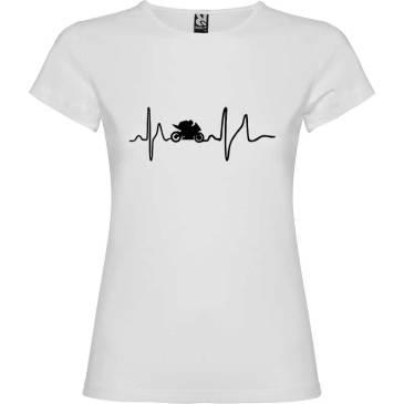 Camiseta para mujer Soy Motera en color Blanco