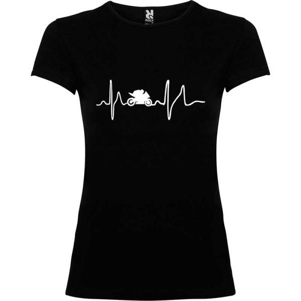 Camiseta para mujer Soy Motera en color Negro